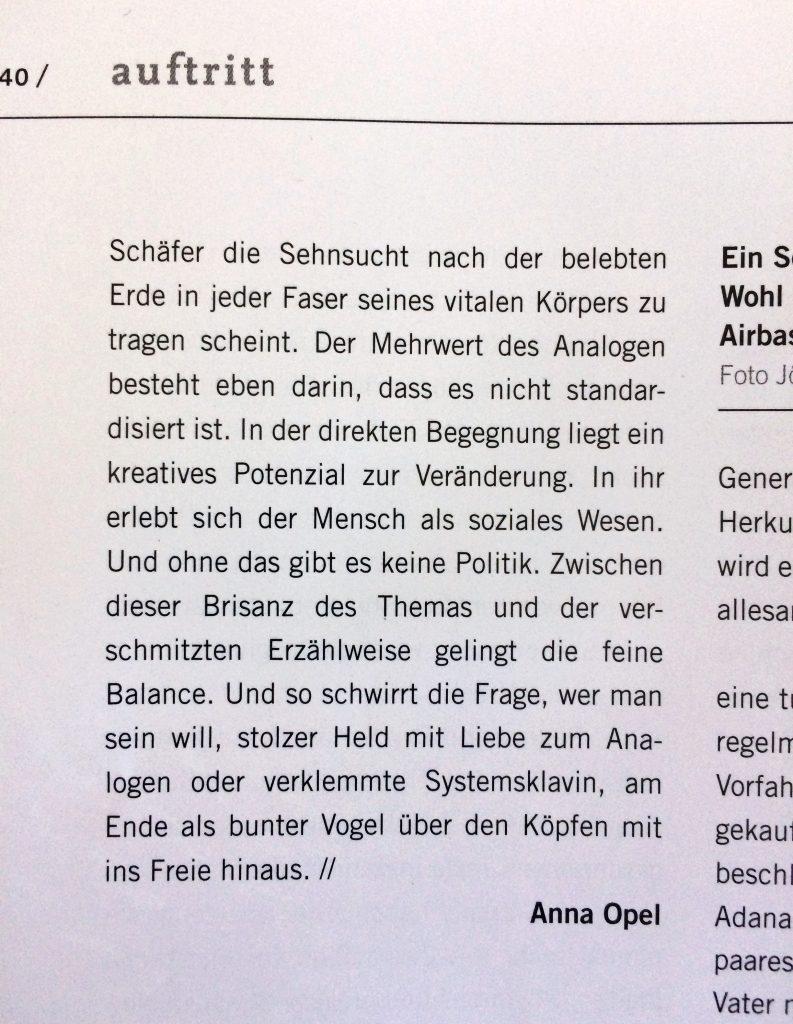Evy Schubert _ Theater der Zeit _ Die Maschine steht still _ Theater an der Parkaue